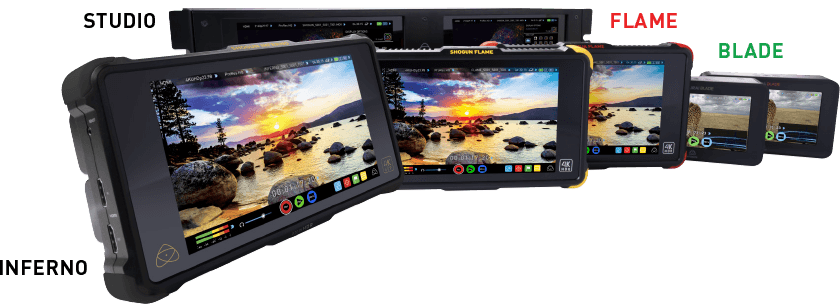 1Display Pro supported on Atomos Inferno, Flame, Blade and Studio series